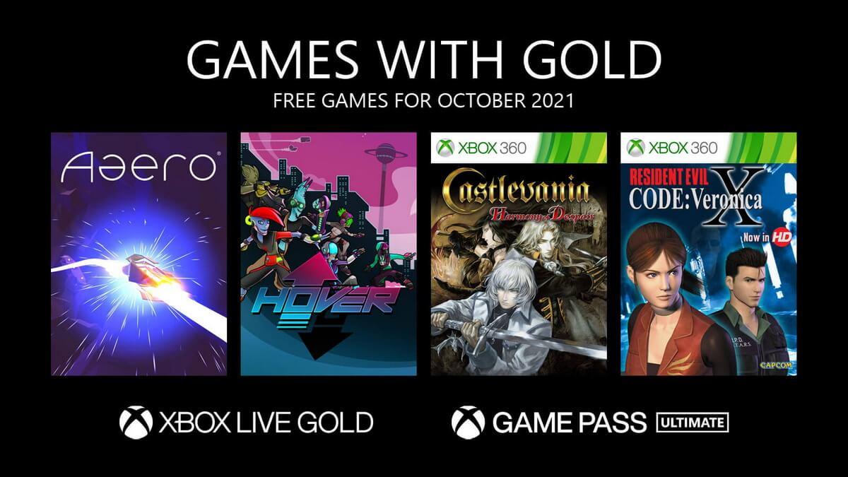 Бесплатные игры Xbox Live Gold на октябрь 2021