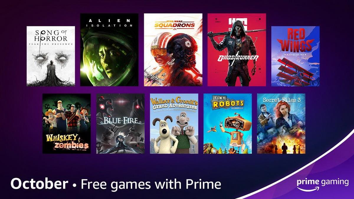 Бесплатные игры Prime Gaming на октябрь 2021 года